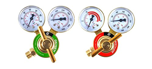 SÜA - Oxygen and Acetylene Regulators Welding Gas Gauges -Pair - Rear Entry - LDB series (Tank Regulator Small)