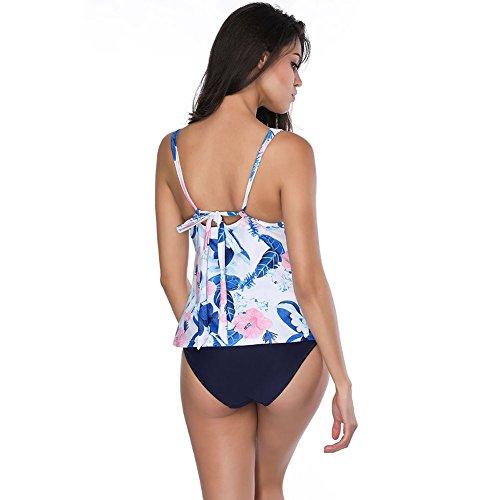 Imbottito Obliquo Da Set FeelinGirl Stile V Bikini Donne Bagno Monokini Costumi crema Sexy Fiore wXv001SxqE