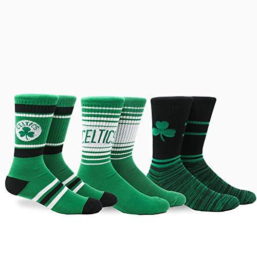 PKWY by Stance NBA Men's Team 3-Pack Socks (Large, Boston Celtics) -