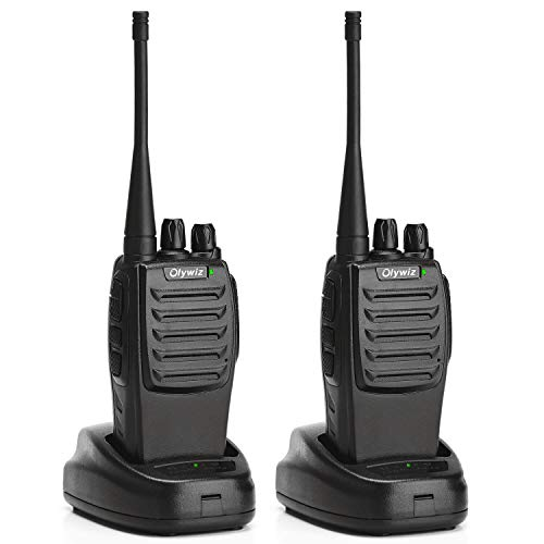 Olywiz Walkie Talkies Long Range Rechargeable Handheld Two Way Radio PMR446 License-free Loud & Clear Walky Talky 16CH 2…