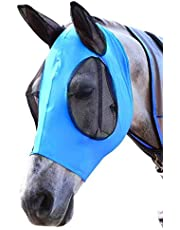 Horse Fly Mask with Mesh Eyes Ears Protection Veil Half Face for Horse/Cob/Pony Equestrian