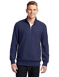 Sport-Tek Men's Super Heavyweight 1/4 Zip Pullover Sweatshirt M True Navy