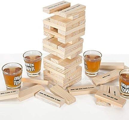 ICUP iPartyHard - Drunken Tower: The Grab A Piece - Juego de Beber para Adultos: Amazon.es: Hogar