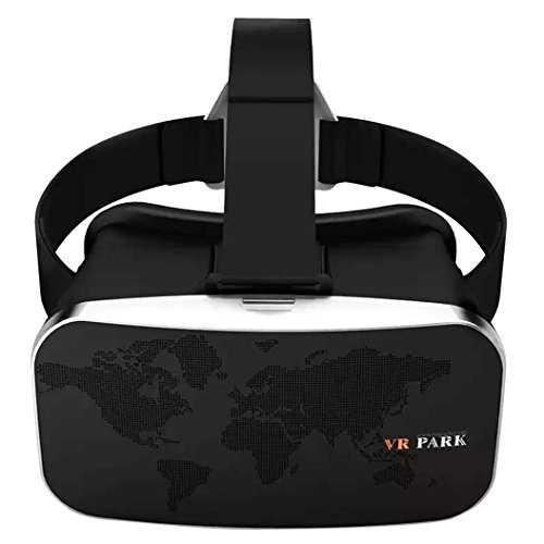 3D VR Glasses - VRPARK 3D VR Virtual Reality Glasses Headset with Head-mounted Headband