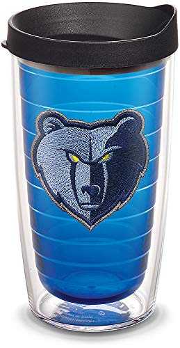 Tervis 1309495 NBA Memphis Grizzlies Primary Logo Insulated Tumbler with Emblem and Black Lid 16oz Sapphire ()