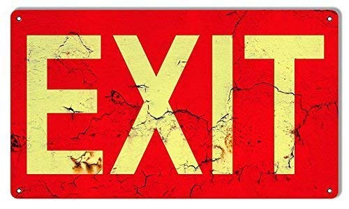 (TNND Metal Sign 12x16 inches Personalized Nostalgic EXIT Signs! Aged Exit Aluminum Metal Garage Art Sign Vintage Tin)