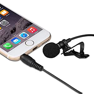 lavalier lapel microphone clip on omnidirectional condenser mic for apple iphone. Black Bedroom Furniture Sets. Home Design Ideas