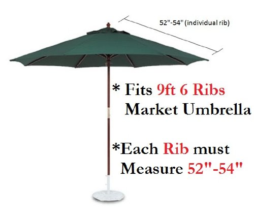 Amazon Com Formosa Covers 9ft Umbrella Replacement Canopy 6 Ribs