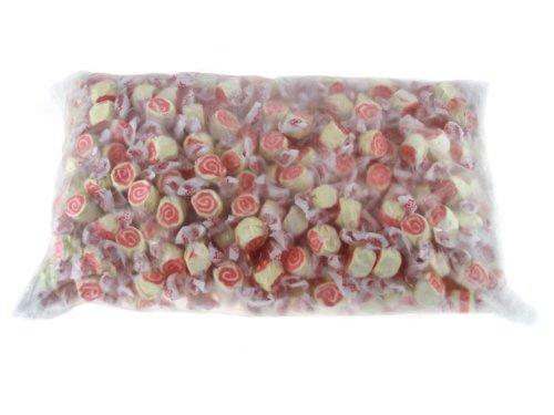 Taffy Town Pink Swirl Strawberry Cheesecake, Gourmet Salt Water Taffy, 5 Pound Bag