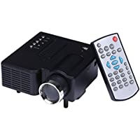 Onker Mini Video Projector, 60 Multimedia Portable Mini HD Led Projector Cinema Theater, Support PC Laptop HDMI VGA Input and SD USB AV Input for iPhone Galaxy Laptop Mac with Remote Control for Home