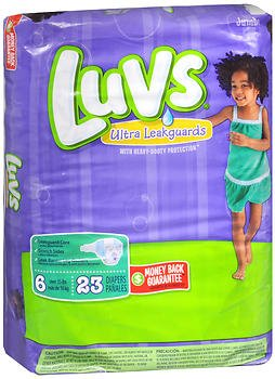 Luvs Ultra Leakguard Diapers Size 6 - 4 packs of 21, Pack of 5