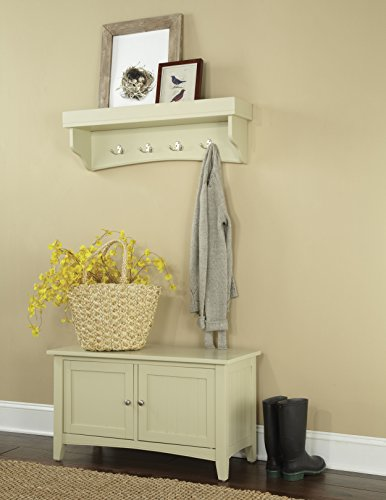 Alaterre Shaker Cottage Coat Hook with Shelf and Cabinet/Bench Set, Sand by Alaterre
