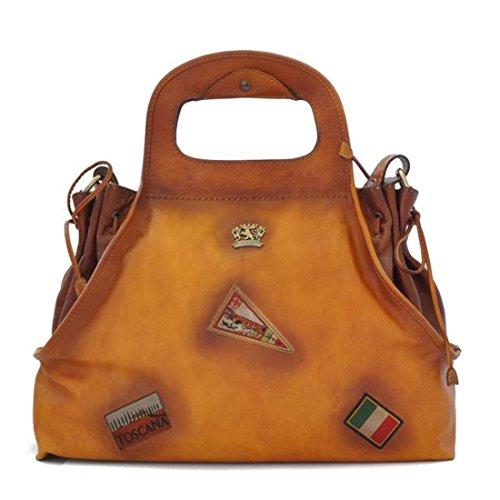 Pratesi Handbag Gaiole in cow leather - B145 Bruce Cognac