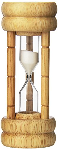 HIC 3-Minute Kitchen Egg and Tea Timer; Vintage Style Hourglass with Sand (Simple Hourglass)