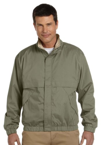 Devon And Jones Classic Jacket (Devon & Jones Mens Clubhouse Jacket (D850) -OLIVE/KHAK -M)