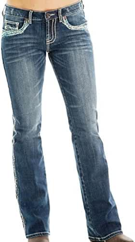 Cowgirl Tuff Western Denim Jeans Womens Show It Off Med JSWITF