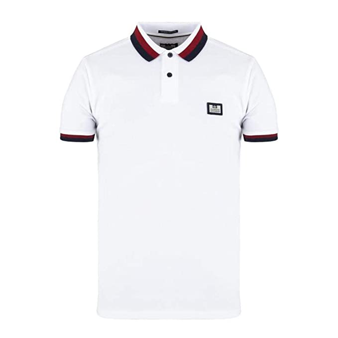 Weekend Offender Massimo SS - Polo para Hombre, Color Blanco ...