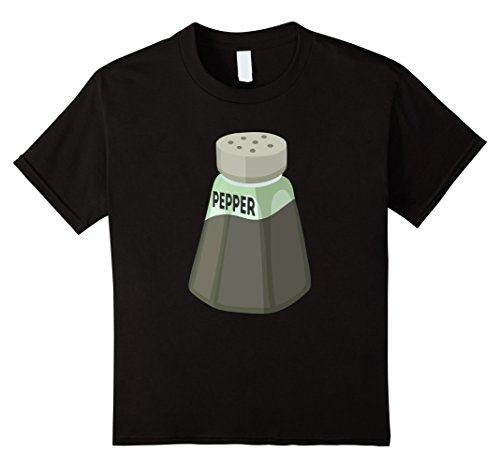 Kids Pepper Shaker T-Shirt Halloween Costume for Couples Top Tee 10 Black
