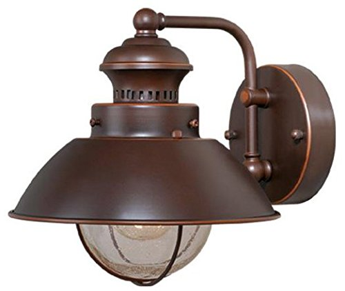 Vaxcel OW21581BBZ Harwich 8-Inch Outdoor Wall Light, Burnished Bronze