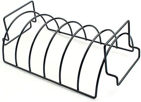 Icegrape BBQ Holders Rack Grill Stand Steak Rib Roasting Non-Stick BBQ Rib Rack Kitchen Outdoor Barbecue Accessories