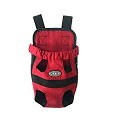 CozyCabin Front Dog Pouch Carrier is a hands-free dog carrier that allows owners and their small dogs to have more adventures together. It's extra comfortable for both you and your dog who are afraid to walk on crowded streets and is easy to use.It i...
