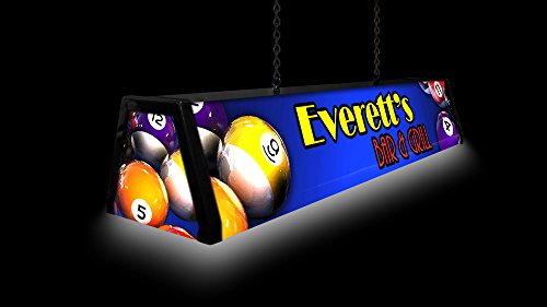 44'' Personalized Acrylic Pool Table Light, Custom Classic by Bourbon Street Light Works (Image #3)