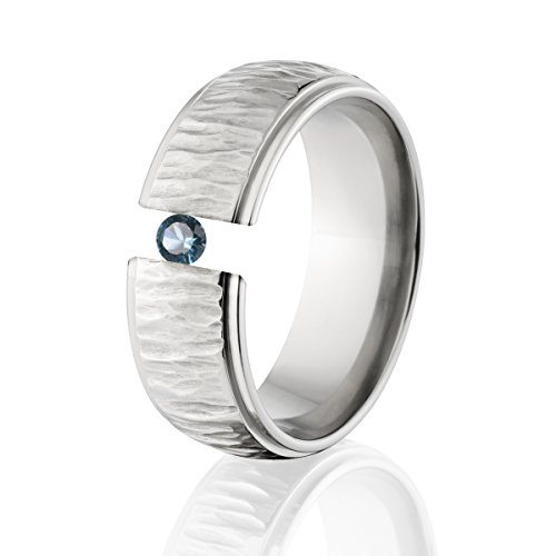 London Blue Topaz Ring Titanium Tension Set Jewelry Stunning London Blue Topaz Band
