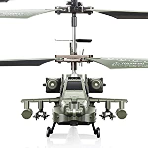 Darenbp 2.4Ghz RC Plane 3.0 Channel Remote Control Helicopter Drop-resistant RC Army Heli Toy With Gyro & Led for Kids…