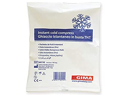 GIMA Frost bag - hielo instantáneo en bolsa TNT (1 paquete de 25 bolsas)