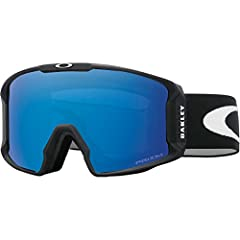 Oakley Line Miner was created with the purpose of providing the ultimate in peripheral vision, with a cylindrical style design. This goggle sits closer to your face than any Oakley goggle before it, with a large lens design that expands perip...