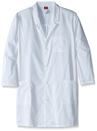Dickies Men's Big and Tall Eds Professional with 40 inch Unisex Lab Coat, White, XXX-Large Tall Lab Coats