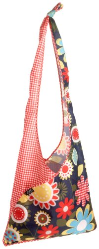 Envirosax Slingsax Messenger Bag,Daisy Gingham,one size