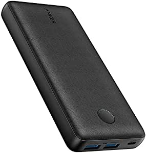 Anker PowerCore Select 20000, 20000mAh Power Bank with 2 USB-A Ports, Light Weight Portable Charger, PowerIQ 2.0 18W External Battery with MultiProtect and VoltageBoost