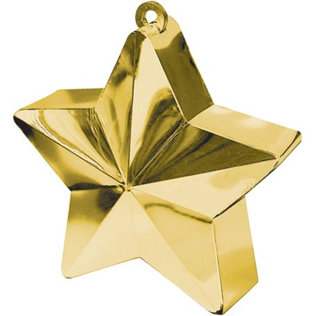 Amscan Star Weight, 6 Ounces, Gold