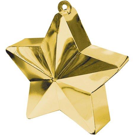 Amscan Star Weight, 6 Ounces, Gold (6 Ounce Star Weight)