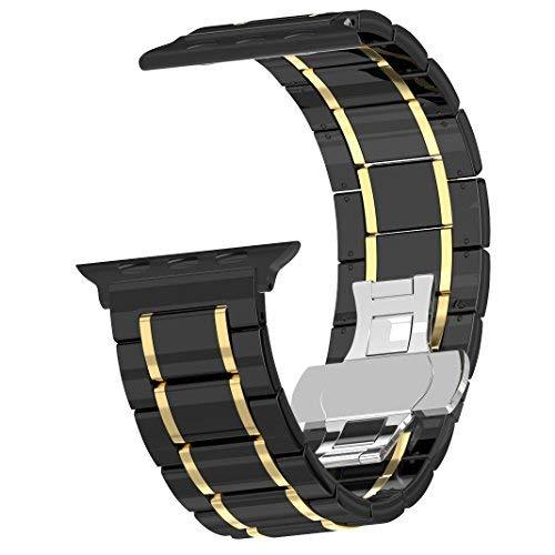 For Apple Watch Band 42mm Ceramic, Originality Club Premium Ceramic Bracelet iWatch Bands Strap Smart Watch Replacement Wrist Band for Apple Watch Series 3/2/1 ()