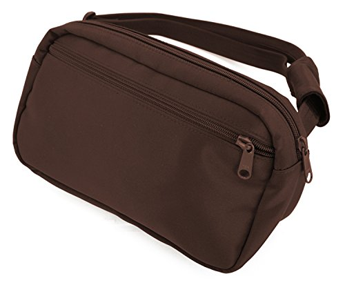 DayMakers BeSafeBags HipSafe Anti-Theft Security Waist Pack,Large, Chocolate Microfiber