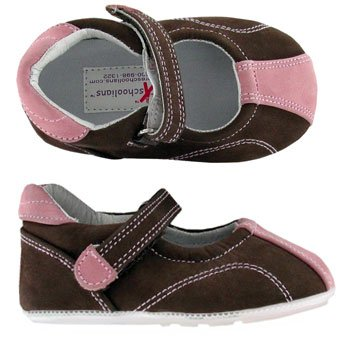 Jane Pink Nubuck Mary I'm Sport Preschoolians Walking Brown Barefoot H1qU7X