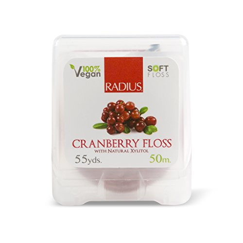 Radius Cranberry Coated Dental Floss, 50 Meter -- 6 per case.