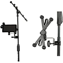 Hola. hm-mth Micrófono/música Stand Soporte para Tablet–Fits mayoría de tablets.
