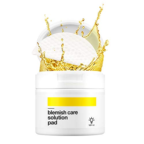 [BELLAMONSTER] Blemish Care Solution Pad 70ea 155ml - 3d Embossed Pad Containing Rich Vitamin C Calamansi, Skin Brightening and Radiant Care, Removes Dead Skin Cells and Soften Skin Tone