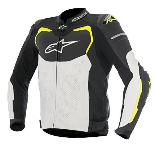 Alpinestars GP Pro Airflow Men's Street Motorcycle Jackets - Black/White/Yellow / 60
