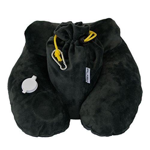 iFlash Next Gen Inflatable Travel Pillow (Grey)