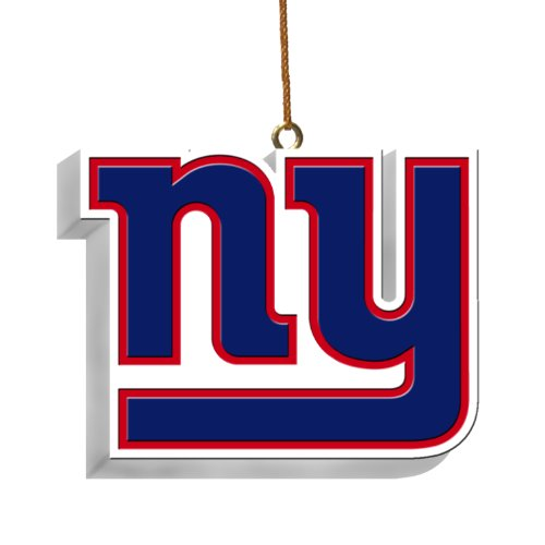 NFL New York Giants 3D Logo Ornament