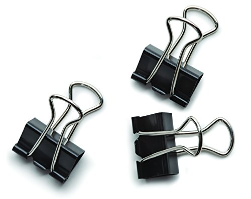 "Staples® Small Metal Binder Clips Bulk Pack, Black, 3/4"" Si"