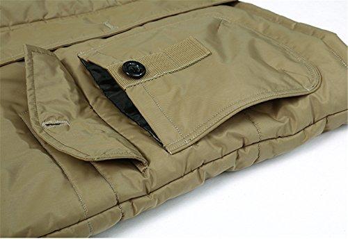 Avec Veste Coat Épais Hooded Amovible Manteaux Capuche Winter Faux Jacket Kaki Homme Mens Yyzyy Doublure Parka Fourrure Hiver Chaud Cashmere wz0gWqFg