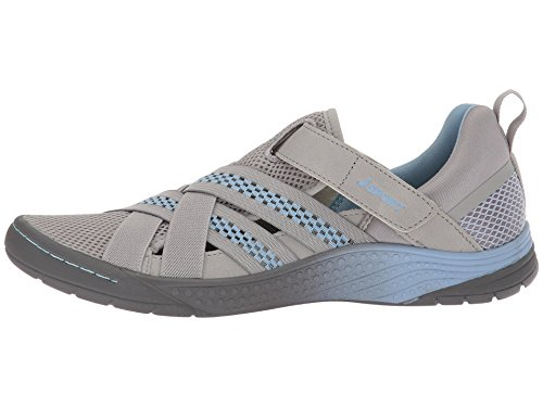 JSport by Jambu Women's Essex Sneaker Light Grey/Stone Blue 7 Medium US