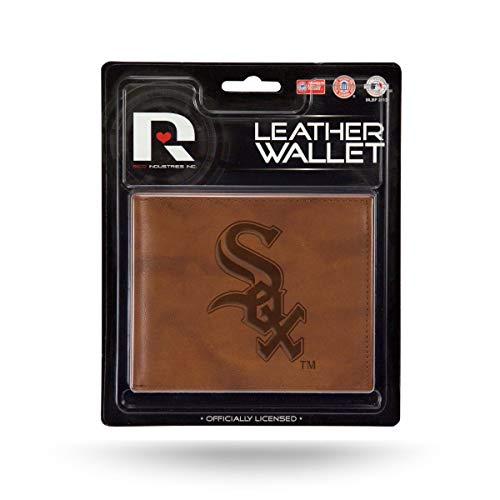 Rico Chicago White Sox MLB Embossed Brown Leather Billfold Wallet ()