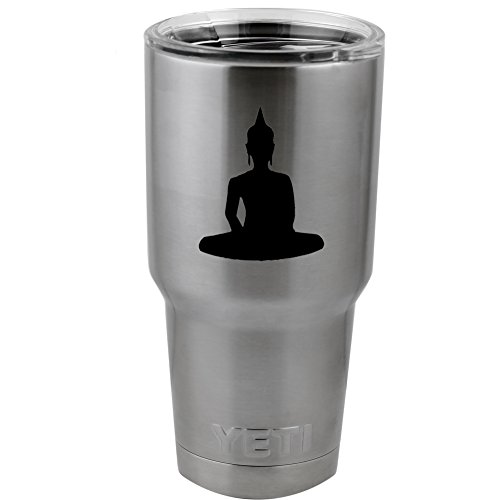"Buddha Buddism Enlightenment Vinyl Sticker Decal for Yeti Mug Cup Thermos Pint Glass (4"" Wide - DECAL ONLY, NO CUP)"