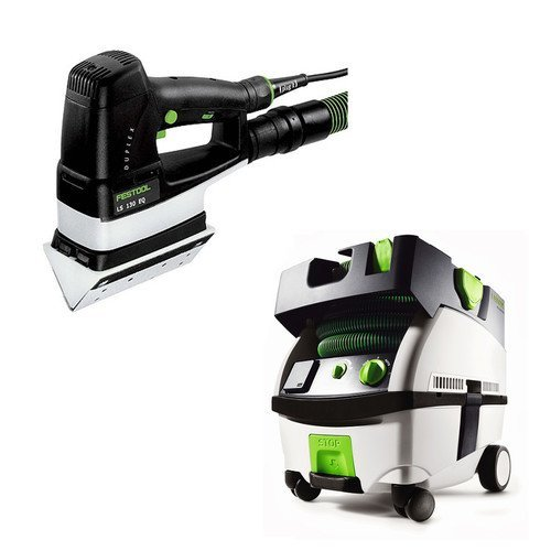 Festool PN567852 Duplex Linear Detail Sander with CT MINI HEPA 2.6 Gallon Mobile Dust Extractor -